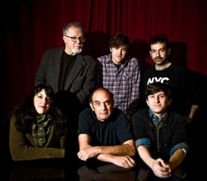 Rick Parker, Joseph Remnant, Jeff Newelt, Tara Seibel, Harvey Pekar, Sean Pryor. Photo by Seth Kushner