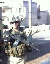 Korey Rowe in Iraq